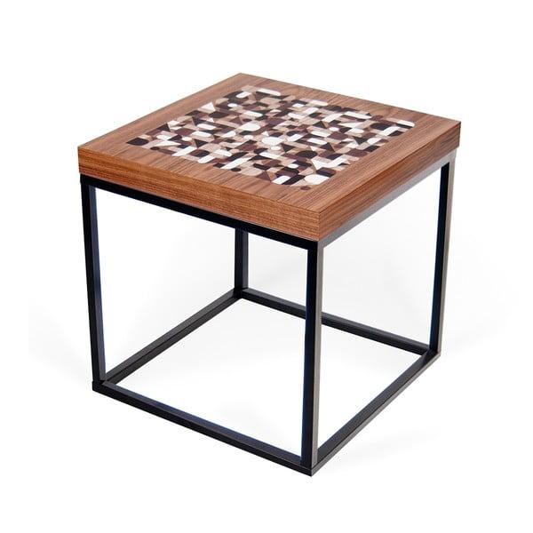 Stolik z blatem w kolorze drewna orzechowego TemaHome Metrics