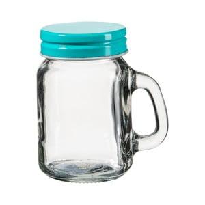 Szklanka z turkusowym wieczkiem SUMMER FUN II, 120 ml