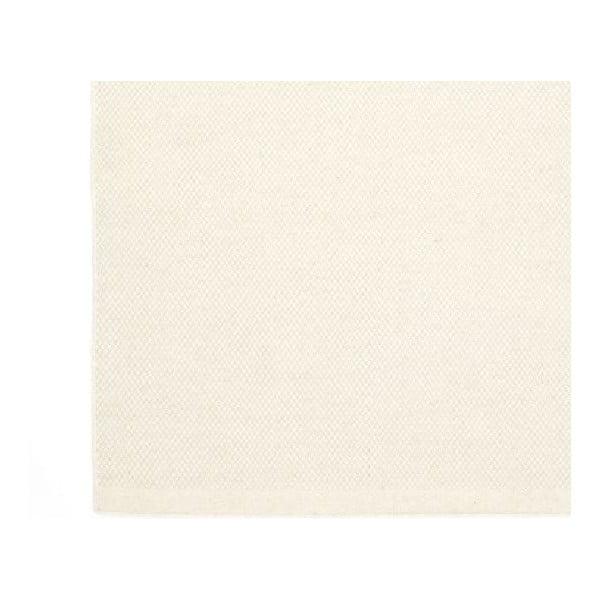 Biały dywan wełniany ręcznie tkany Linie Design Dilli,70x140 cm