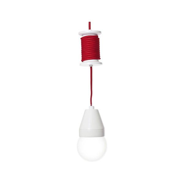 Czerwona lampa wisząca Spool