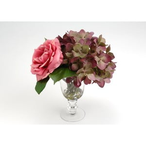 Sztuczne kwiaty w wazonie Milva Pink