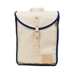 Beżowy plecak z granatowym detalem Mödernaked Navy Heap