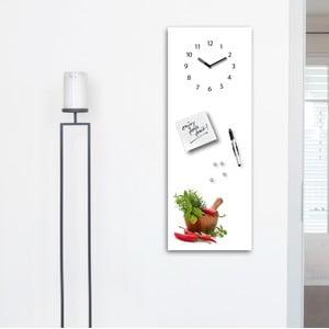 Tablica magnetyczna z zegarem Eurographic Spices, 30x80 cm