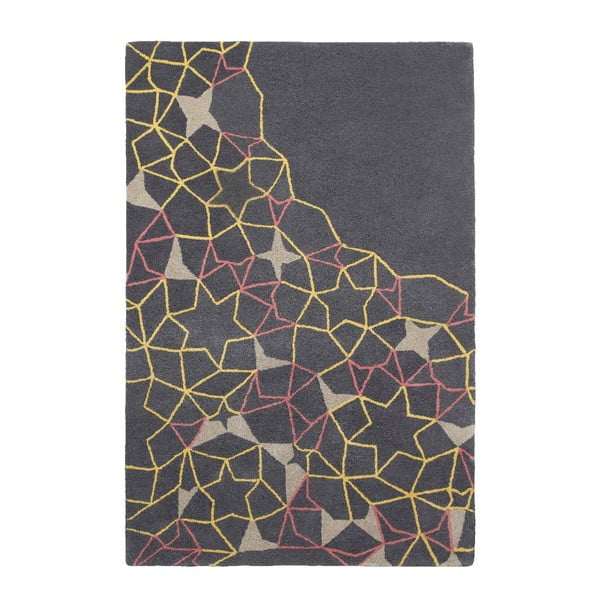 Dywan Spectrum Grey Yellow Pink, 120x170 cm
