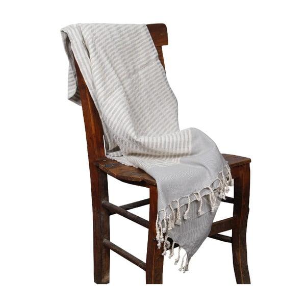 Ręcznik hammam Yummy Grey, 90x190 cm