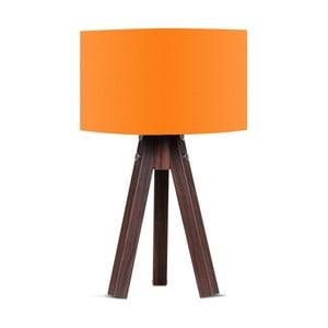 Lampa stołowa z pomarańczowym abażurem Kate Louise Kahve