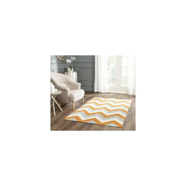 Wełniany dywan Harlow 121x182 cm, pomarańczowy