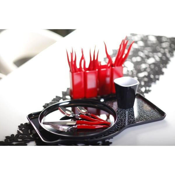 Zestaw 24 czerwonych sztućców Vialli Design Ama