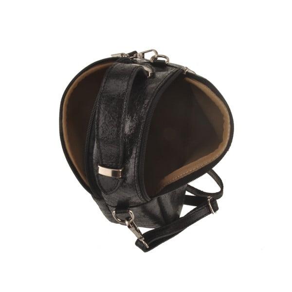 Skórzana torebka Men, czarna