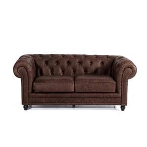 Brązowa skórzana sofa dwuosobowa Max Winzer Orleans