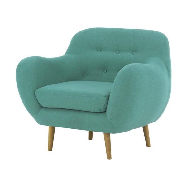 Turkusowy fotel Vivonita Gaia