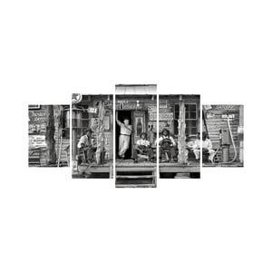Wieloczęściowy obraz Black&White no. 82, 100x50 cm