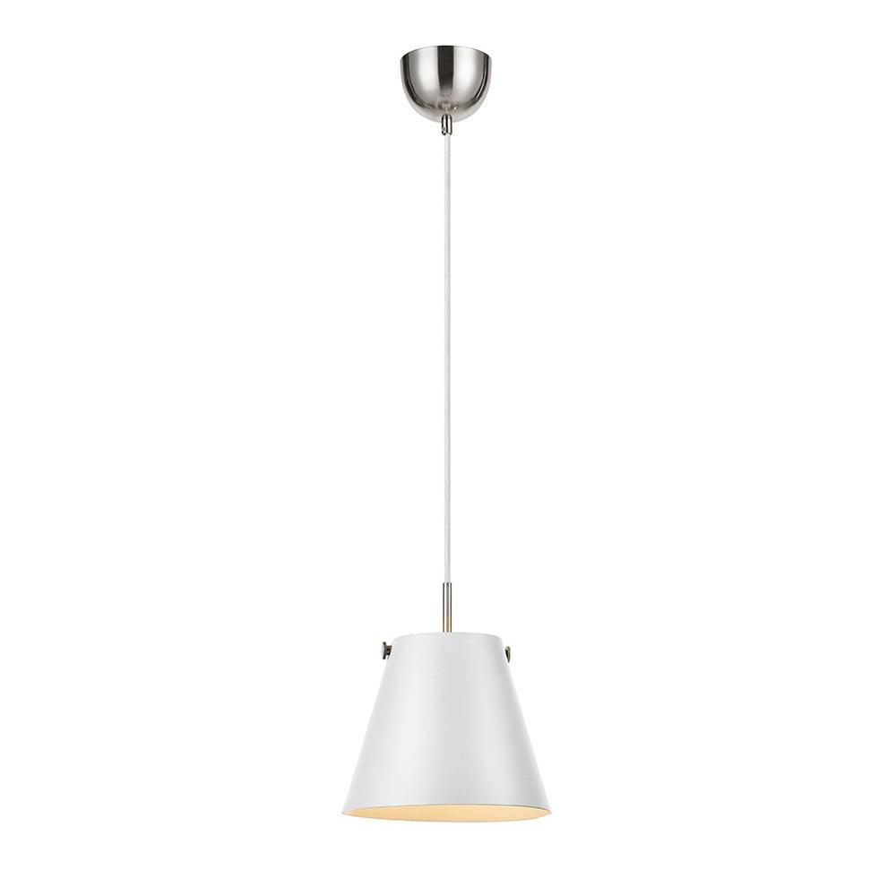 Biała lampa wisząca Markslöjd Tribe, ø30cm