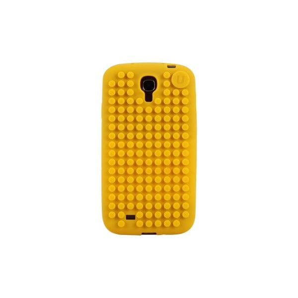 Pikselowe etui na Samsung S4, żółte