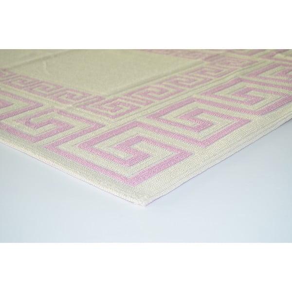 Liliowy wytrzymały dywan Versace, 120x180 cm