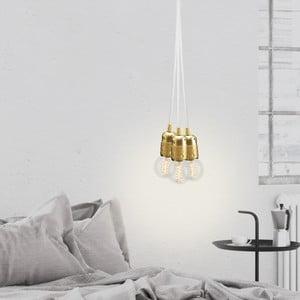 Lampa wisząca potrójna Uno, złoty/biały/złoty