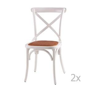 Zestaw 2 białych krzeseł drewnianych sømcasa Ariana