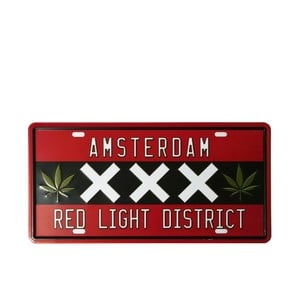 Tablica Red Light, 15x30 cm