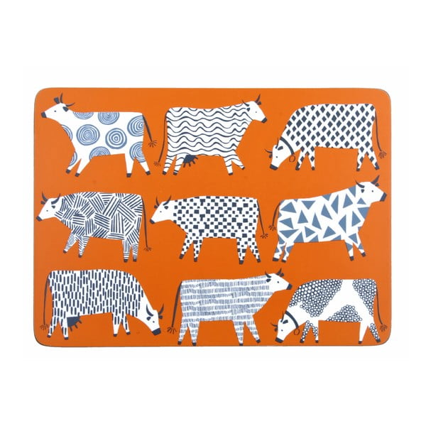 Zestaw 4 mat stołowych Curious Cows