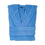 Niebieski szlafrok bawełniany z kapturem Casa Di Bassi, rozm. L/XL