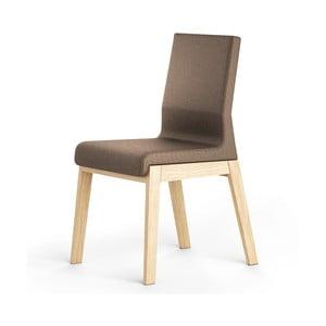 Brązowe krzesło dębowe Absynth Kyla
