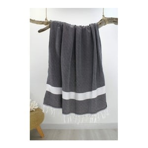 Ręcznik hammam Diamond Style Black, 100x180 cm