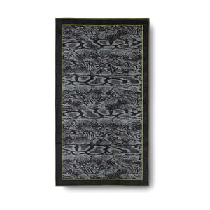 Zielonno-czarny ręcznik kąpielowy Casa Di Bassi Serpent, 100x180 cm