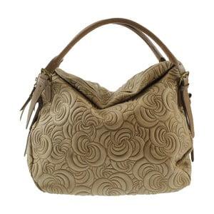 Beżowa torba skórzana Chicca Borse City Look