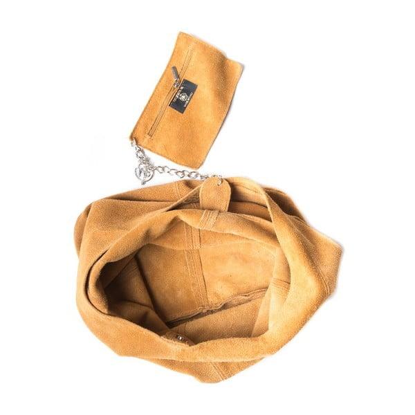 Skórzana torebka Roberta M 885 Cognac