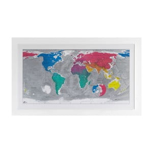 Mapa świata The Future Mapping Company Colour World Map, 130x72 cm