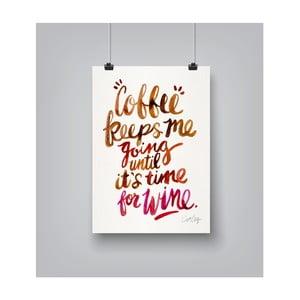 Plakat Americanflat Coffee And Wine, 30x42 cm