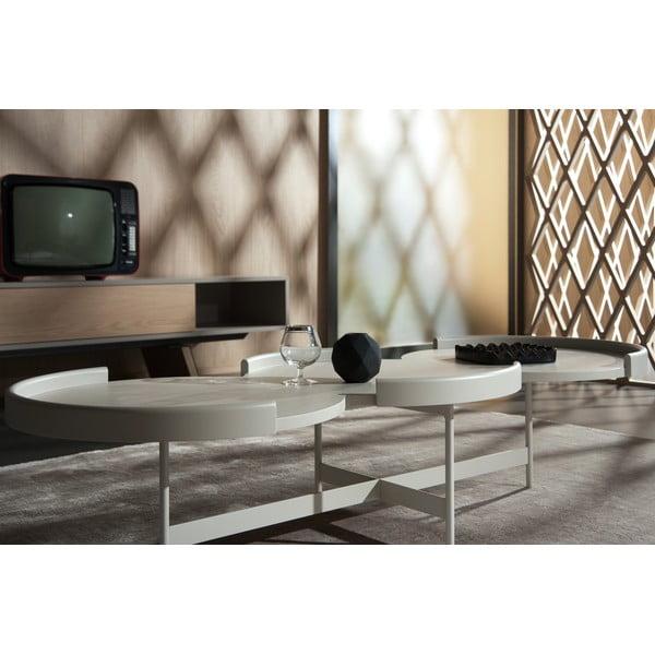 Beżowy stolik dębowy  pod TV E-klipse AL2, 250cm