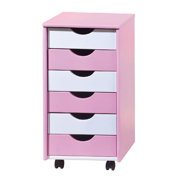 Stolik z szufladami Pink Chest