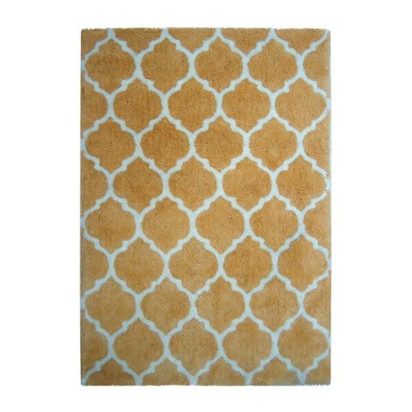 Żółty dywan Smooth, 80x150cm