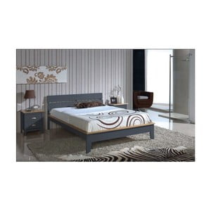 Szare łóżko SOB Javier, 140x200cm