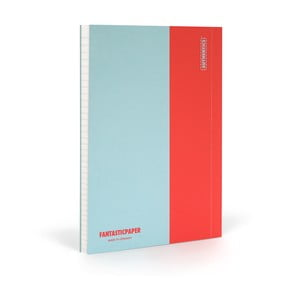 Notes FANTASTICPAPER XL Skyblue/Warm Red, w linie
