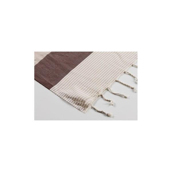 Ręcznik hammam Amerikan Brown Beige, 100x180 cm
