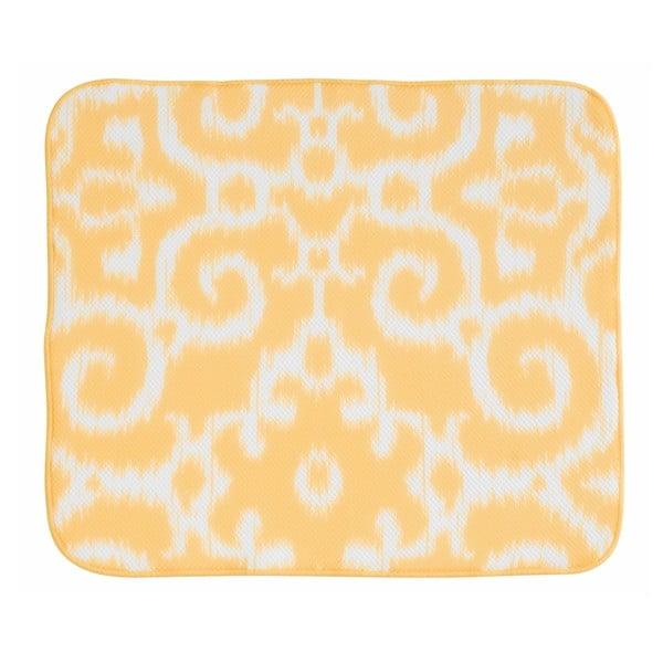 Żółta mata/ociekacz do naczyń InterDesign iDry, 46 x 41 cm