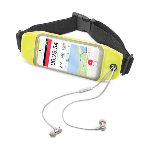 """Sportowa opaska, neopreonowa CELLY RunBelt View, na telefony do 5.5"""", żółta"""