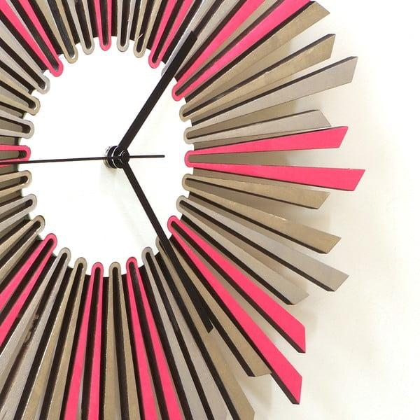Zegar drewniany The Star, 41 cm
