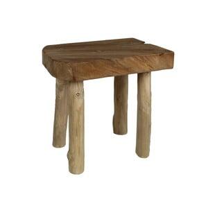 Taboret z drewna tekowego i drewna mungur HSM Collection Aure