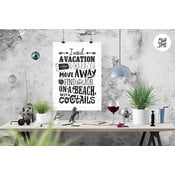 Plakat Vacation Black & White, A3