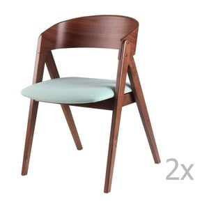 Zestaw 2 miętowych krzeseł sømcasa Rina
