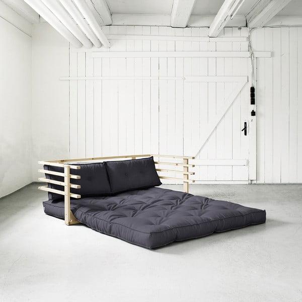 Sofa rozkładana dwuosobowa Karup Funk Natural/Gray