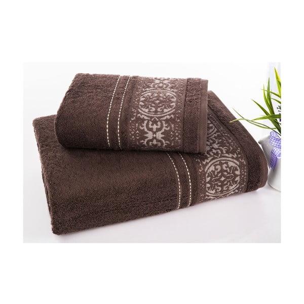 Zestaw 2 ręczników Ottoman Brown, 50x90 cm i 70x140 cm