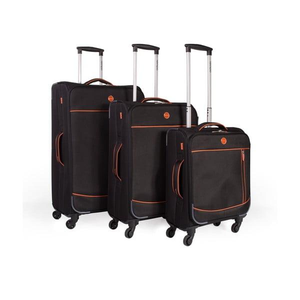 Zestaw 3 walizek Trolley Negro