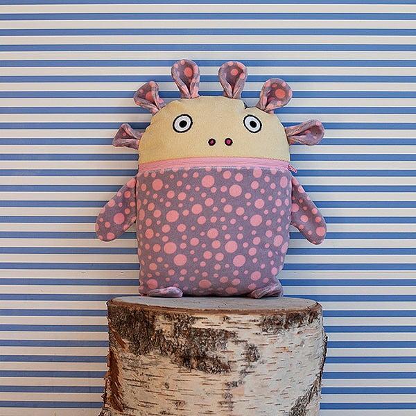 Szaro-różowy piżamożerca Bartex, 35x30 cm