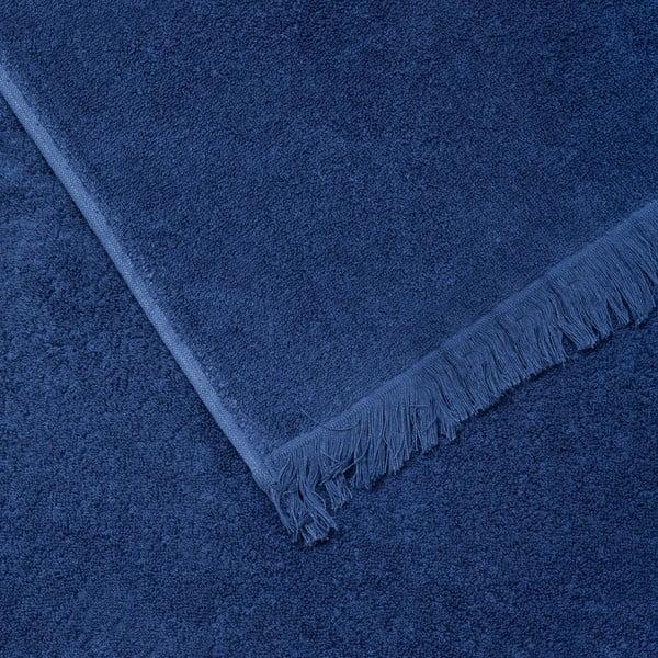 Komplet 2 niebieskich ręczników bawełnianych Casa Di Bassi Face, 50x90 cm
