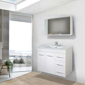 Szafka do łazienki z umywalką i lustrem Byron, 80 cm