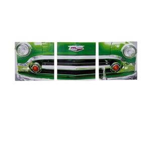 Obraz na drewnie Green Vintage Car, 30x93 cm